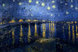 Vincent van Gogh, Notte stellata sul Rodano, 1888