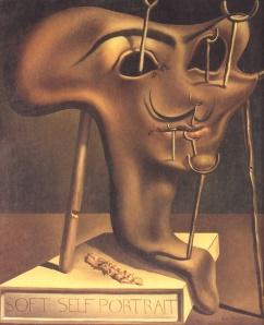Salvador Dalì, Autoritratto molle con pancetta fritta, 1941