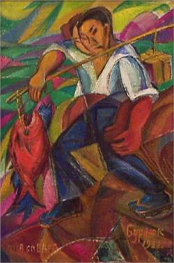 David Burliuk, Pescatore giapponese, 1921